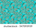 seamless exotic pattern with... | Shutterstock . vector #547093939