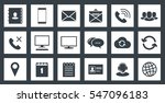 square communications icons set | Shutterstock .eps vector #547096183