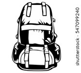 camping backpack for sport ... | Shutterstock .eps vector #547099240