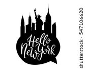 Hello New York Cityscape Quote...