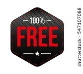 hundred percent free vector | Shutterstock .eps vector #547107088