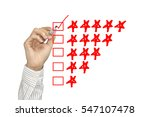 business hand check mark with... | Shutterstock . vector #547107478