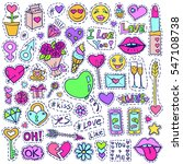 patch badges set. love symbols... | Shutterstock .eps vector #547108738