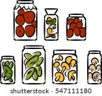 sketch of preserved vegetables    Shutterstock . vector #547111180