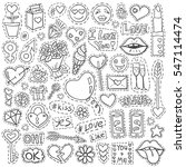 patch badges set. love symbols... | Shutterstock .eps vector #547114474