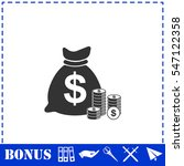 money icon flat. simple vector... | Shutterstock .eps vector #547122358