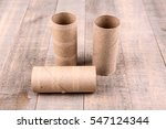 three empty toilet paper rolls...