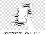 comic phone with halftone... | Shutterstock .eps vector #547124734