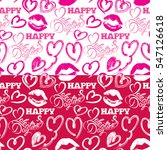 seamless pattern with brush... | Shutterstock .eps vector #547126618