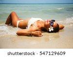 summer lifestyle portrait of... | Shutterstock . vector #547129609