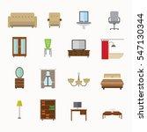 furniture icon design vector | Shutterstock .eps vector #547130344