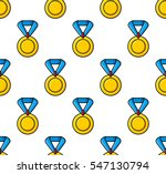 gold medal awards. colored flat ... | Shutterstock .eps vector #547130794