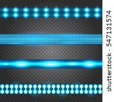 set of realistic neon or led... | Shutterstock .eps vector #547131574