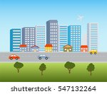 big city downtown skyline with... | Shutterstock .eps vector #547132264
