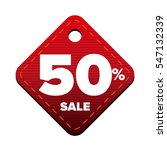 sale fifty percent pricetag red ... | Shutterstock .eps vector #547132339