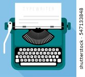 flat design vector typewriter... | Shutterstock .eps vector #547133848