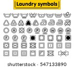 laundry symbols set. line icon. ... | Shutterstock .eps vector #547133890
