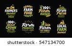 farm fresh labels. farmer icon. ...   Shutterstock .eps vector #547134700