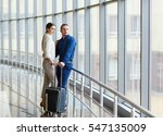 couple in love on vacation.... | Shutterstock . vector #547135009
