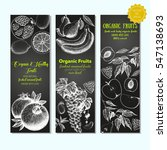 set of banners with hand drawn... | Shutterstock .eps vector #547138693
