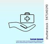 medicine bag vector icon | Shutterstock .eps vector #547140190