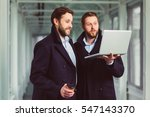 two handsome businessmen...   Shutterstock . vector #547143370