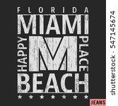 t shirt print design. miami... | Shutterstock .eps vector #547145674