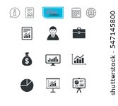 statistics  accounting icons.... | Shutterstock .eps vector #547145800