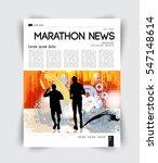 sport layout magazine  vector | Shutterstock .eps vector #547148614