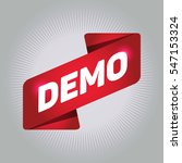 demo arrow tag sign. | Shutterstock .eps vector #547153324