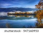 beautiful autumn morning at the ... | Shutterstock . vector #547160953