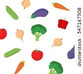 set of hand drawn vegetables ... | Shutterstock .eps vector #547167508
