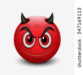 Devil Emoticon Isolated On...