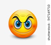 angry smiling emoticon  emoji   ... | Shutterstock .eps vector #547169710