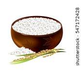 Rice Bowl. Hand Drawn Vector...