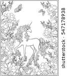 unicorn. the composition... | Shutterstock .eps vector #547178938