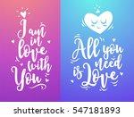 vintage typography hand written ... | Shutterstock .eps vector #547181893