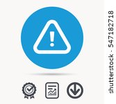 warning icon. attention... | Shutterstock .eps vector #547182718