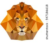 lion low poly  | Shutterstock .eps vector #547186618