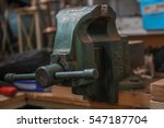 solid steel tabletop vise in a... | Shutterstock . vector #547187704