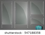 glass plates set. vector glass... | Shutterstock .eps vector #547188358
