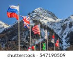 flags of russia  uk  usa and... | Shutterstock . vector #547190509
