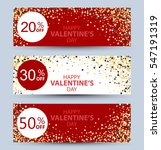 collection of banners.valentine'... | Shutterstock .eps vector #547191319
