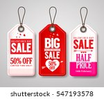 valentines day sale price tags... | Shutterstock .eps vector #547193578