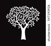 white tree on black background. ... | Shutterstock .eps vector #547193926