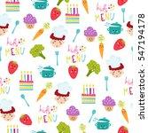 kids food menu background... | Shutterstock .eps vector #547194178