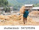 mai chau  vietnam   january 13  ... | Shutterstock . vector #547195396