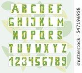 english alphabet. abc.... | Shutterstock .eps vector #547196938