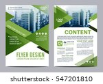 greenery brochure layout design ... | Shutterstock .eps vector #547201810