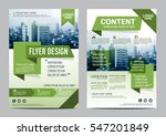 greenery brochure layout design ... | Shutterstock .eps vector #547201849